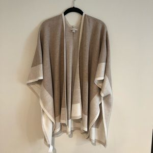 LOFT Knit Poncho Sweater